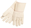 "MCR 9124G Hot Mill Knuckle Strap Cotton Glove - Regular Weight - 4-1/2"" Gauntlet Cuff"