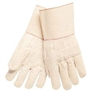 MCR 9132G Hot Mill Knuckle Strap Burlap-Lined Cotton Glove - Heavy Weight