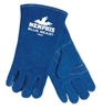 MCR 4600 Large Blue Beast Side Leather Welder's Glove With Wing Thumb