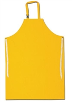 "MCR 200S5 35"" x 47"" Yellow Sewn Edge Classic Series Apron"