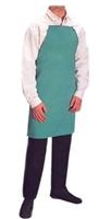 "Anchor Brand CA-500 24"" x 42"" FR Visual Green Cotton Sateen Bib Apron"