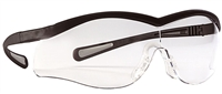 North Safety T65005 Lightning Series Safety Glasses - Clear Lens Black Frame