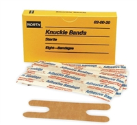 North Safety 020020 Knuckle Woven Adhesive Bandages
