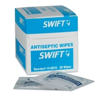 North Safety 150910 Antiseptic Wipes - 20/Box