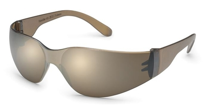 Gateway 466M Starlite Safety Glasses - Mocha Mirror Lens With Gray Temple