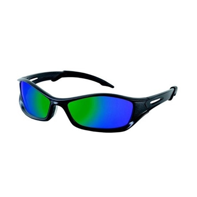 Crews TB11G Tribal V Safety Glasses - Emerald Mirror Lens