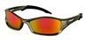 Crews TB12R Tribal V Safety Glasses - Fire Mirror Lens