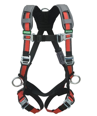 MSA 10105955 Evotech Full Body Harness - XL Size With Back And Hips D-Ring And With Shoulder And Leg Padding