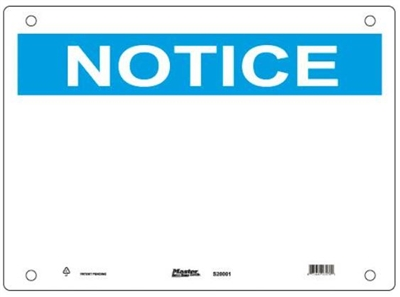Guardian Extreme S20001 Notice Sign