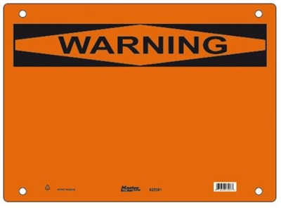 Guardian Extreme S25001 Warning Sign