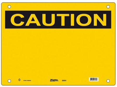 Guardian Extreme S5000 Caution Sign