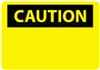 "National Marker C1P 7"" x 10"" Pressure Sensitive Vinyl OSHA Caution Sign"
