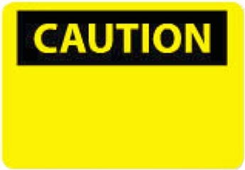 "National Marker C1R 7"" x 10"" Rigid Plastic OSHA Caution Sign"