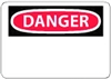 "National Marker Company D1PB 10"" x 14"" Pressure Sensitive Vinyl OSHA Danger Sign"