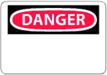 "National Marker Company D1R 7"" x 10"" Rigid Plastic OSHA Danger Sign"