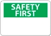 "National Marker SF1R 7"" x 10"" Rigid Plastic OSHA Safety First Sign"