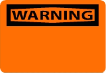 "National Marker W1RB 10"" x 14"" Rigid Plastic OSHA Warning Sign"
