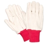 Southern Glove I185 Oil Rig 100% Cotton Glove - Import - Red Knit Wrist