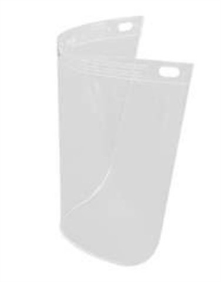 "Fibre-Metal 4118CL High Performance Faceshield Window - 8"" x 11-1/4"" Clear Standard View"