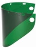 "Fibre-Metal 4178DGN High Performance Faceshield Window - 8"" x 16-1/2"" Green Wide View"