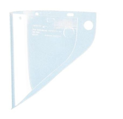 "Fibre-Metal 4199CL High Performance Faceshield Window - 9-3/4"" x 19"" Clear Extended View"