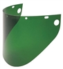 "Fibre-Metal 4199DGN High Performance Faceshield Window - 9-3/4"" x 19"" Green Extended View"