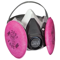 3M 6391 6000 Series Half Facepiece Respirator Assembly - Large