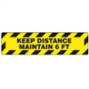 Accuform PSR290 Slip-Gard Border Floor Sign: Keep Distance Maintain 6 FT