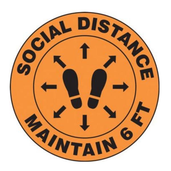 Accuform Mfs384 Slip Gard Floor Sign Social Distance