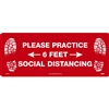 National Marker WFS74TX Practice Social Distancing Walk On Floor Sign