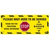 National Marker WFS75TX Please Wait Here Walk On Floor Sign