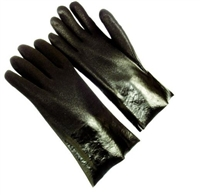 "Seattle Glove D8430-14 Black PVC Dipped Sandy Finish Glove With 14"" Gauntlet Cuff Interlock Lining"