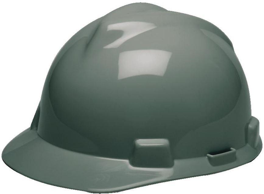 8574e89f303 MSA 475364 Navy Gray V-Gard Slotted Cap Style Hard Hat