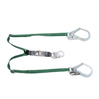 MSA 10072475 Twin Leg Adjustable Workman Shock-Absorbing Lanyard With LC Harness Connection And (2) LC Anchorage Connection
