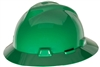 MSA 475370 Green V-Gard Slotted Hat With Fas-Trac III Suspension