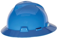 MSA 454732 Blue V-Gard Slotted Hard Hat With Staz-On Suspension