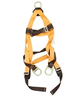 Titan T4007/UAK Full-Body Non-Stretch Harness With Back & Side D-Rings And Mating Leg Strap Buckles