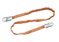 Titan T5111-Z7/6FTAF Single Leg Tubular Shock-Absorbing Lanyard - Locking Snap Hook Anchorage Connection