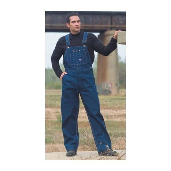 Big Smith Mens Stone Washed Denim Zip Fly Bib Overall