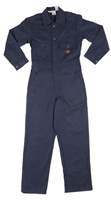 RASCO BFR750 7.5 Oz Navy Cotton Fire Retardant Coverall