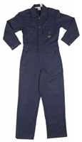 RASCO BFR900 10 Oz Navy Cotton Fire Retardant Coverall