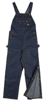 RASCO BODF1219 Blue Denim Duck Fire Retardant Bib Overall