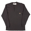 RASCO BTF457 Black Fire Retardant Long Sleeve Cotton Henley