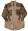 RASCO FKC2004 10 Oz Khaki-Camo Fire Retardant Long Sleeve Western Style Shirt