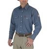 Wrangler FR12127 Denim Men's Flame-Resistant Work Shirt