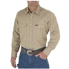 Wrangler FR12140 Khaki Men's Flame-Resistant Work Shirt