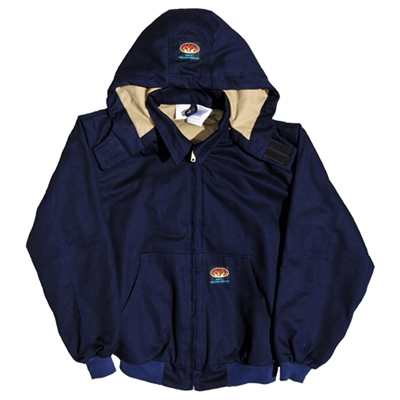 RASCO FR3504NV Navy Hooded FR Jacket