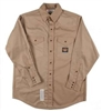 RASCO FR750 7.5 Oz Khaki Fire Retardant Long Sleeve Western Style Shirt