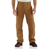 Carhartt FRB100DNM Denim Flame-Resistant Relaxed Fit Straight Leg Utility Jean