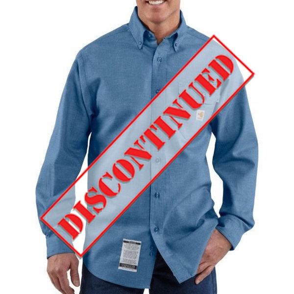 49a1d735b8f Carhartt FRS004CBL Chambray Flame-Resistant Shirt